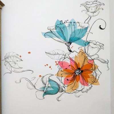 Vẽ tranh tường phòng ngủ 3