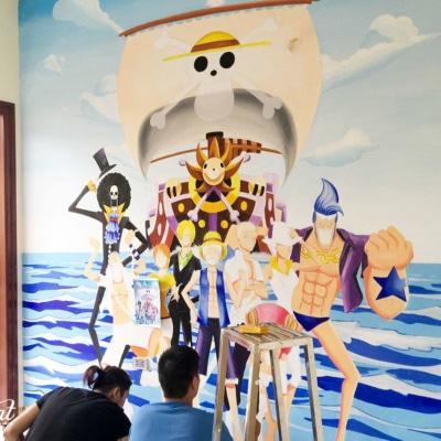 Tranh tường phong cách hoạt hình 2