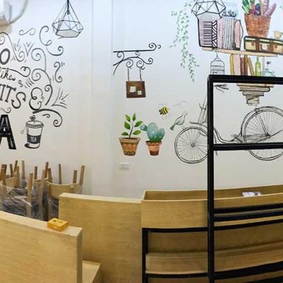 Trang trí cửa hàng trà sữa 23