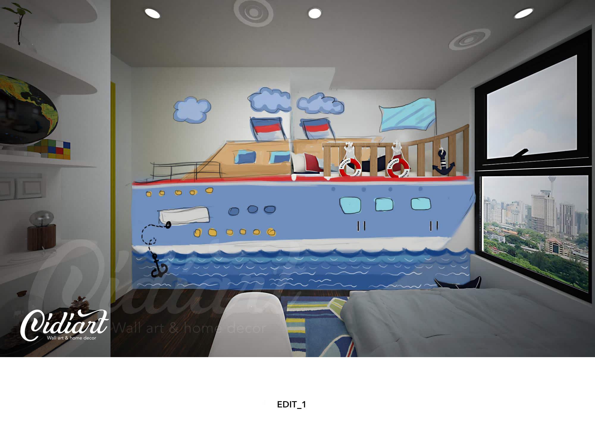 Phòng đọc sách cho bé với ý tưởng độc đáo - Đại dương kiến thức <3 14