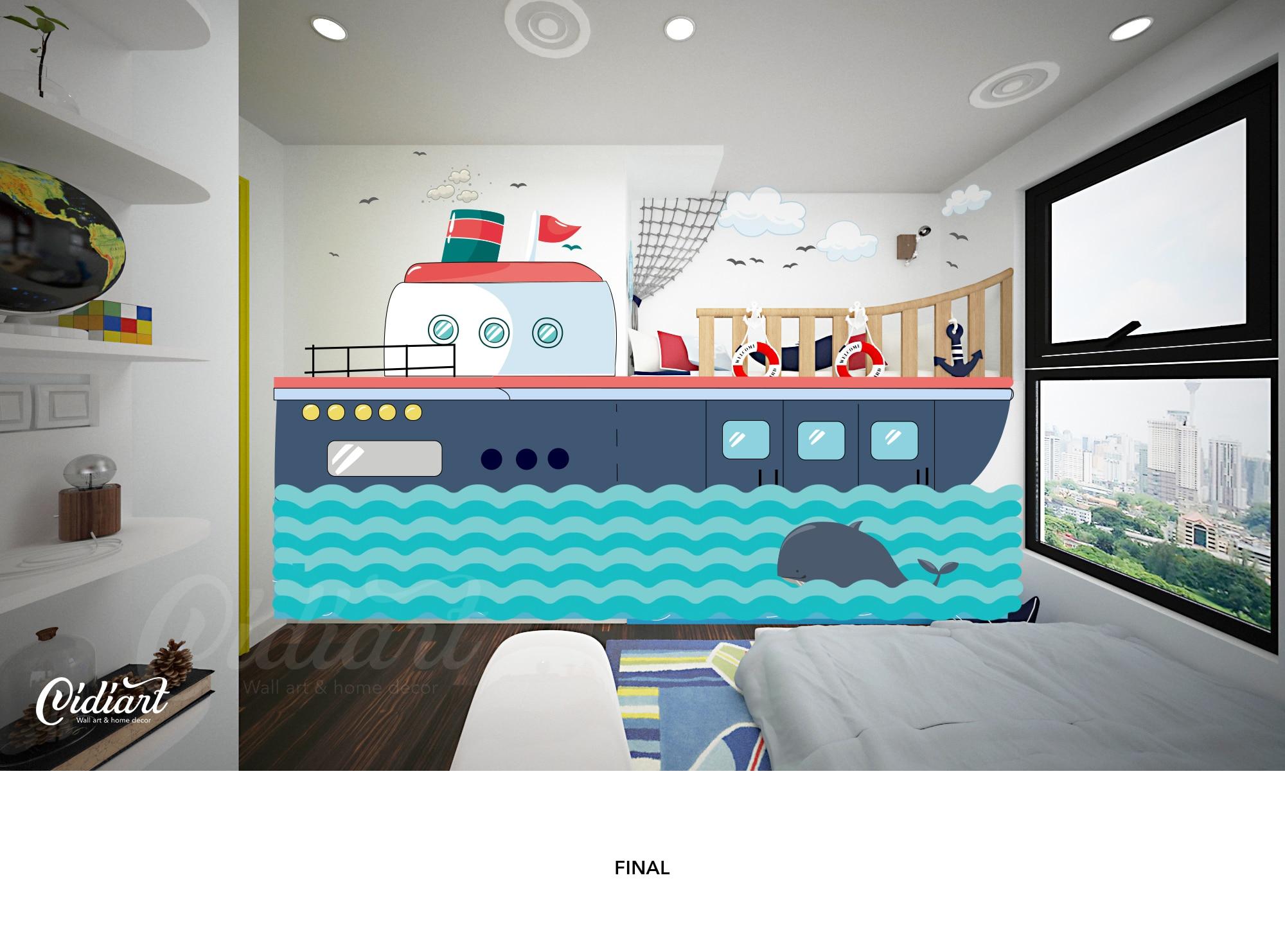 Mẫu tranh tường thiết kế theo yêu cầu