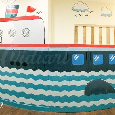 Phòng đọc sách cho bé với ý tưởng độc đáo - Đại dương kiến thức <3 2