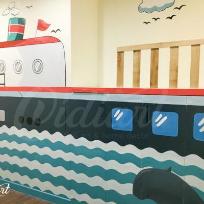 Phòng đọc sách cho bé với ý tưởng độc đáo - Đại dương kiến thức <3 3
