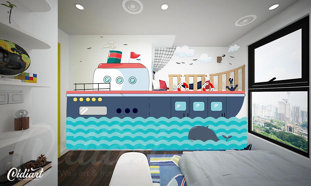 Phòng đọc sách cho bé với ý tưởng độc đáo - Đại dương kiến thức <3 1