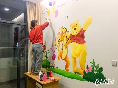 Vẽ Tranh Tường Phòng Ngủ Cho Bé 4