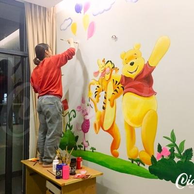 Vẽ Tranh Tường Phòng Em Bé 4