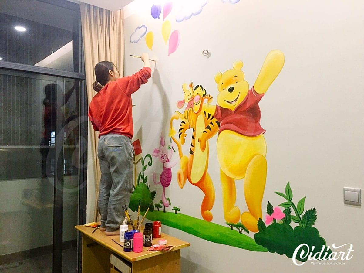 Phòng Cho Bé - Gấu Pooh và những người bạn 1