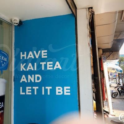 Trang trí không gian trà sữa Kai Tea 17