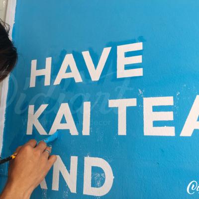 Trang trí không gian trà sữa Kai Tea 5