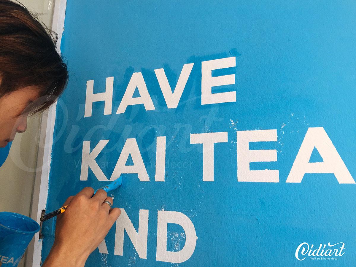 Trang trí không gian trà sữa Kai Tea 1