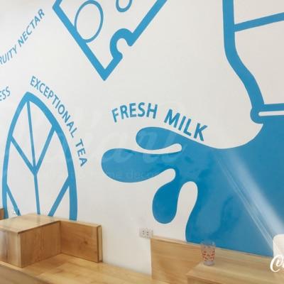 Trang trí không gian trà sữa Kai Tea 6