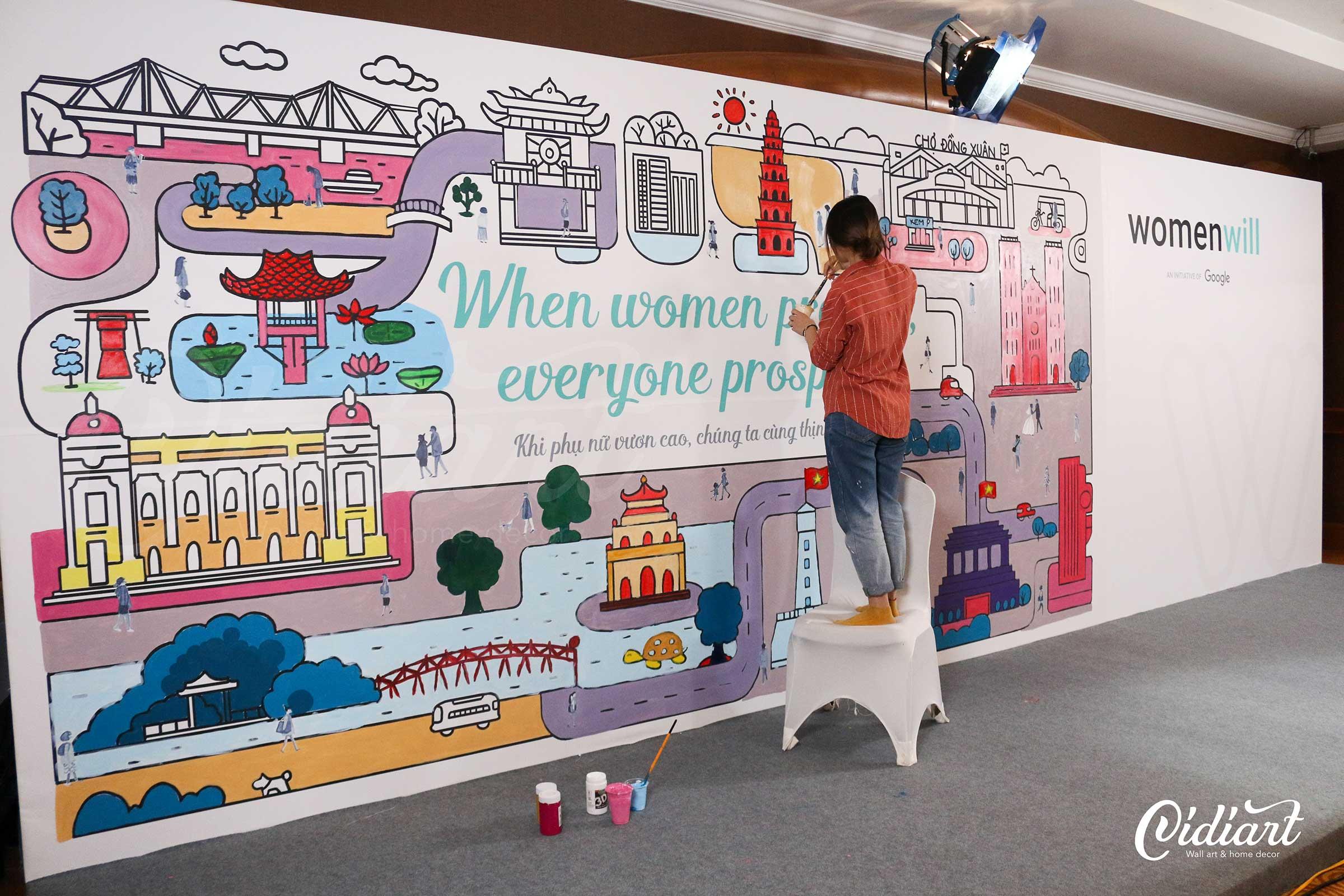 Sự kiện Womenwill - dự án sáng tạo của Google 1