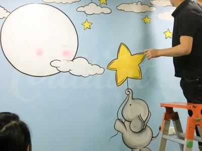 Vẽ Tranh Tường Phòng Ngủ Cho Bé 6