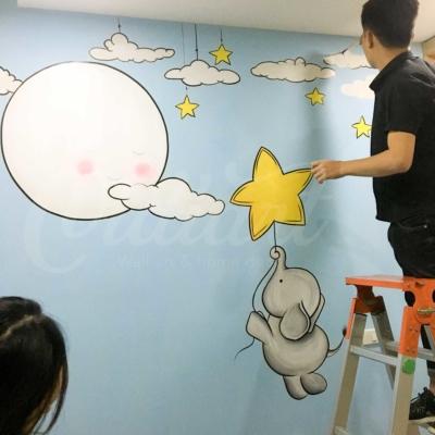 Vẽ Tranh Tường Phòng Em Bé 6