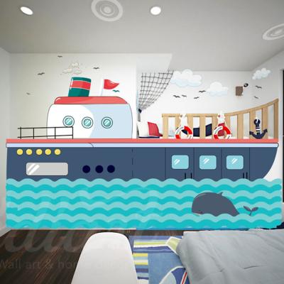 Giường ngủ cho bé trai tạo hình con thuyển