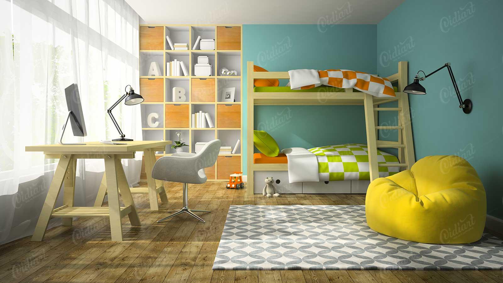 Giường tầng cho bé trai - cidiart.vn