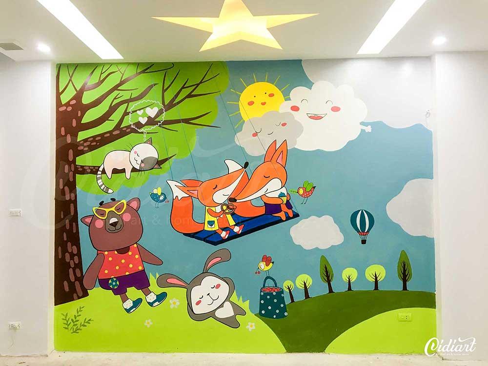 Kết quả hình ảnh cho tranh tường phòng bé trai