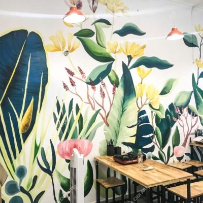 Vẽ tranh tường nhà hàng - cidiart