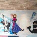 Vẽ tranh tường phòng em bé chung cư An Bình 9