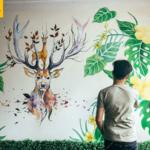 Vẽ tranh tường căn hộ gia đình - Hoàng Đạo Thuý 8