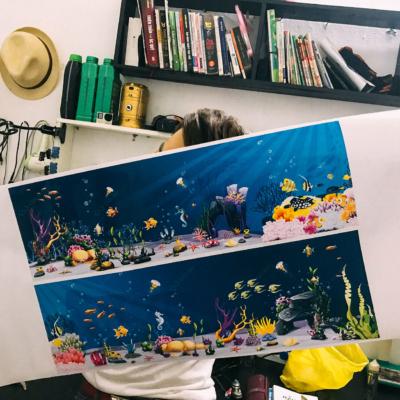 Vẽ tranh tường công ty YIDA Việt Nam 2