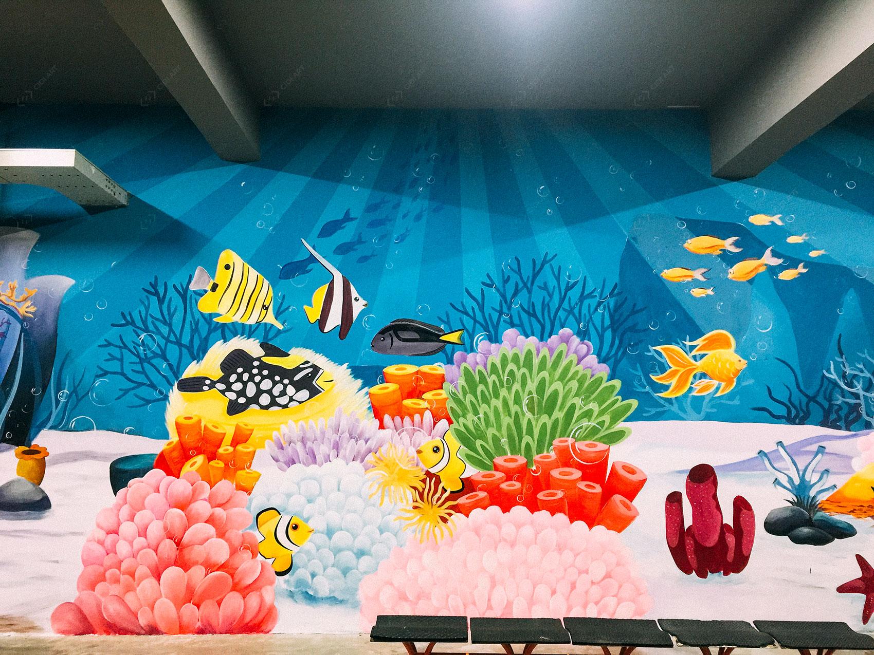 Vẽ tranh tường công ty YIDA Việt Nam 1