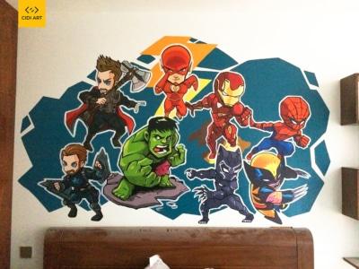 Vẽ Tranh Tường Phòng Ngủ Cho Bé 8