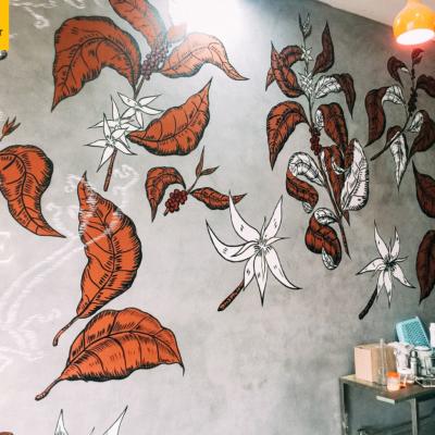 Vẽ tranh tường quán cafe LẠ 2