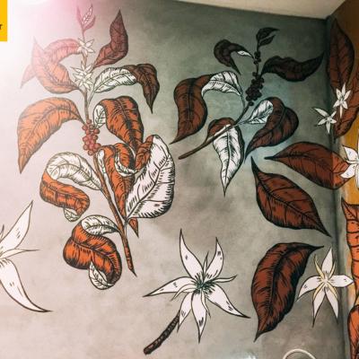 Vẽ tranh tường quán cafe LẠ 10
