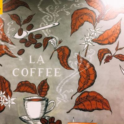 Vẽ tranh tường quán cafe LẠ 13
