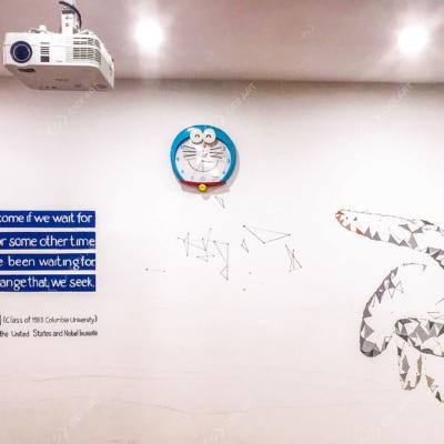 Vẽ tranh tường trung tâm tiếng anh Ivy 3