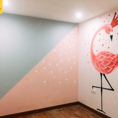 Vẽ tranh tường phòng em bé Golden Season 2