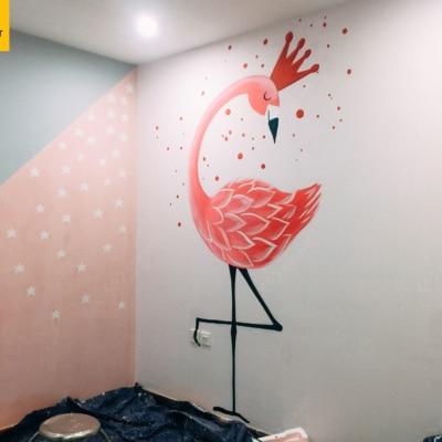 Vẽ tranh tường phòng em bé Golden Season 3