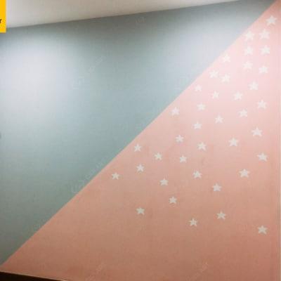 Vẽ tranh tường phòng em bé Golden Season 4