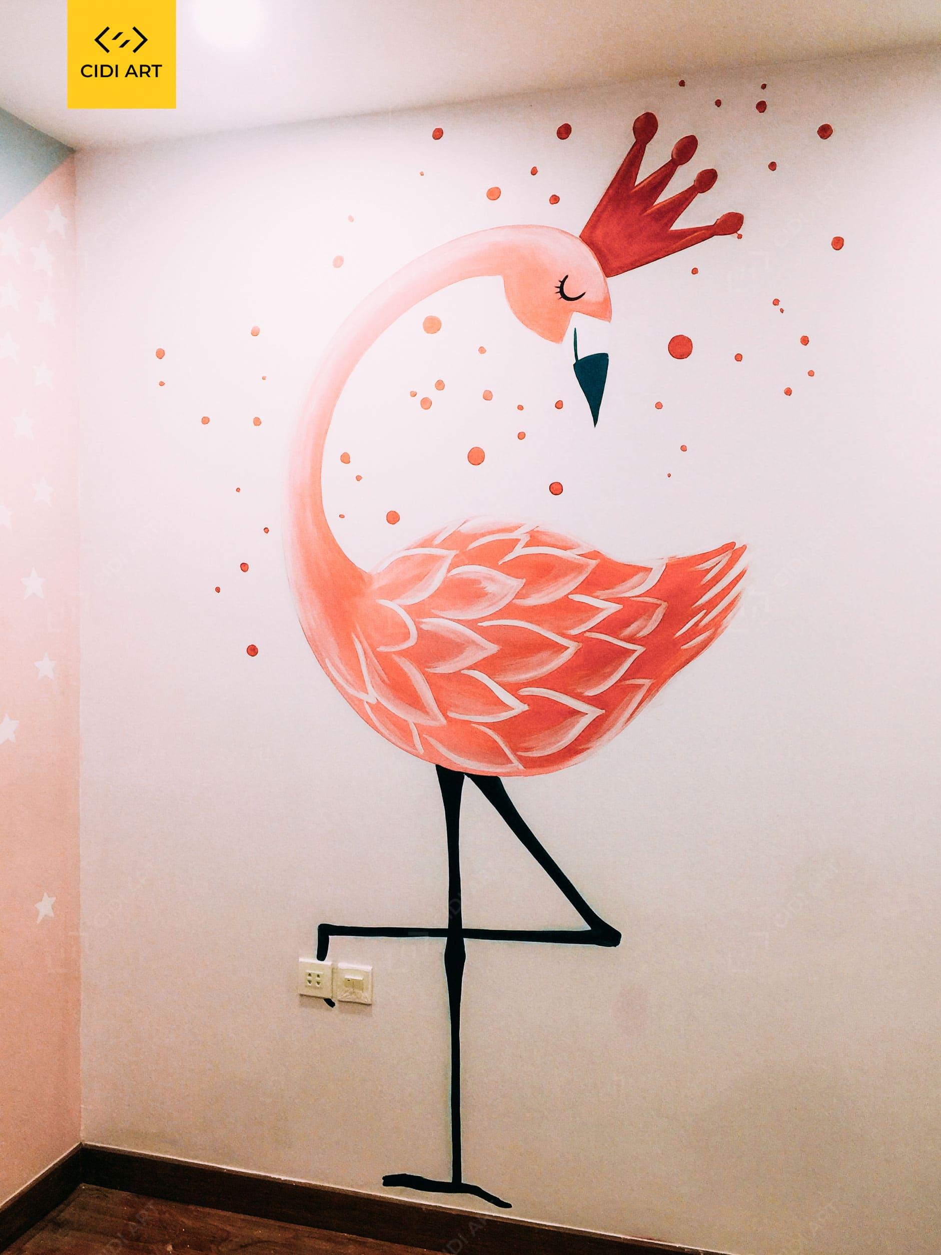 Vẽ tranh tường phòng em bé Golden Season 1