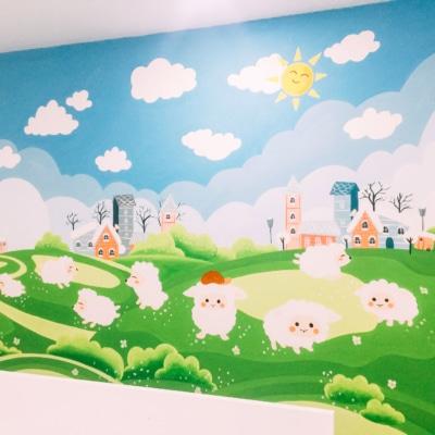 Vẽ tranh tường phòng em bé - A4 An Bình City 5