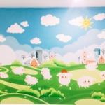 Vẽ tranh tường phòng em bé - A4 An Bình City 3