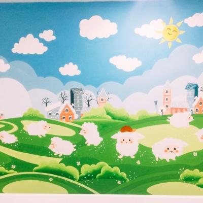 Vẽ tranh tường phòng em bé - A4 An Bình City 4
