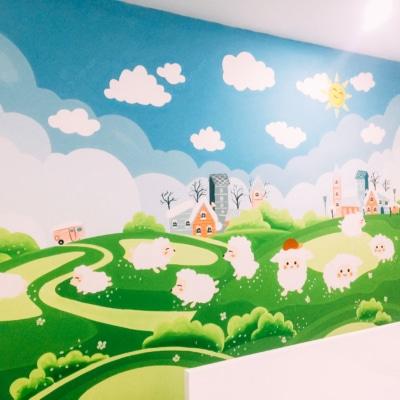 Vẽ tranh tường phòng em bé - A4 An Bình City 2