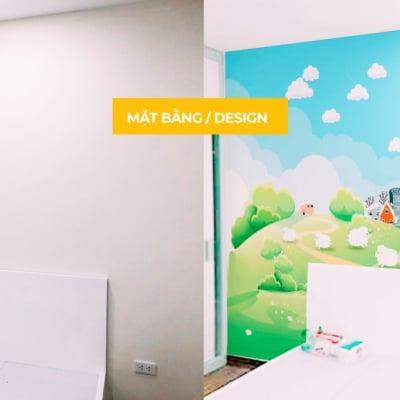 Vẽ tranh tường phòng em bé - A4 An Bình City 6