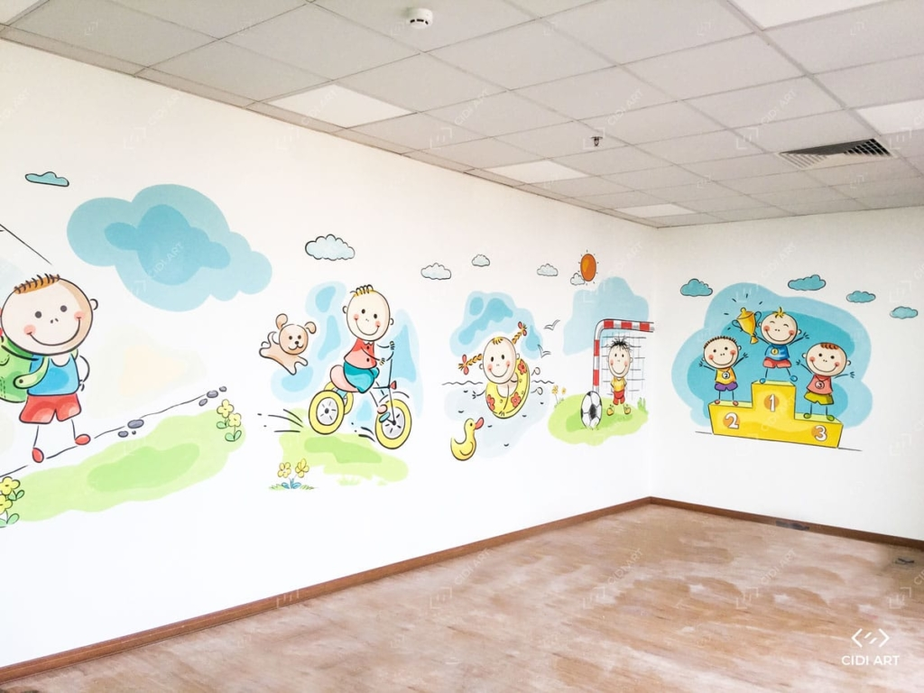 Sản phẩm vẽ tranh tường sau hoàn thiện