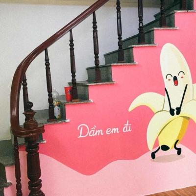 Vẽ tranh tường của hàng bánh mỳ dân bay 10