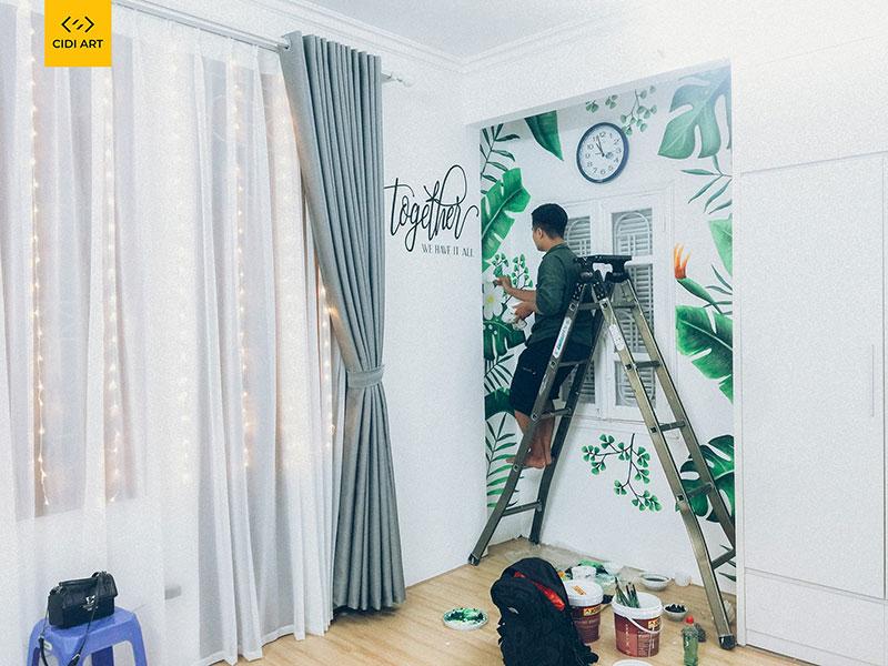 Báo giá vẽ tranh tường phòng ngủ