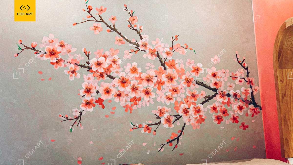 Vẽ tranh tường quán lẩu - Dao Hua - Taiwanese Hotpot Paradise Hà Nội 1