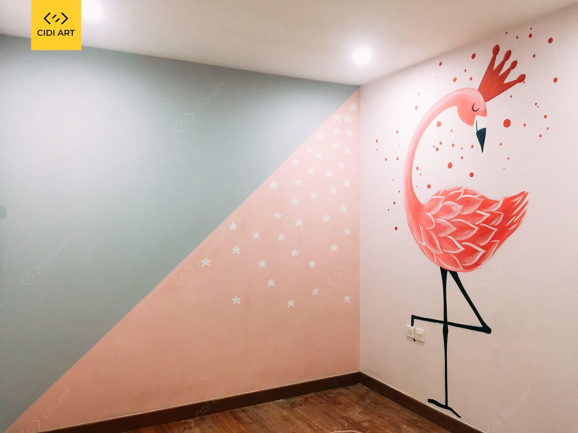 Vẽ tranh tường phòng em bé